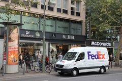 Fedex delivery royalty free stock photography