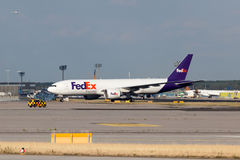 FedEx Express Aircraft in Frankfurt Main Royalty Free Stock Image