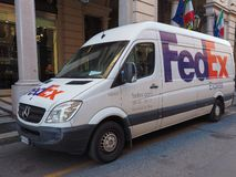 FedEx express courier van in Turin Stock Images