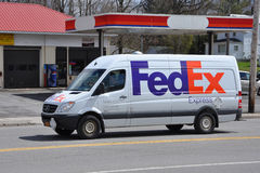 Fedex Express delivery vehicle Royalty Free Stock Photo