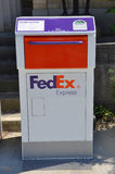 Fedex Express mail box Royalty Free Stock Image