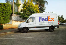 FedEx Express Mercedes Benz van in Israel Stock Photo