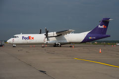FedEx Feeder ATR 72 Stock Images