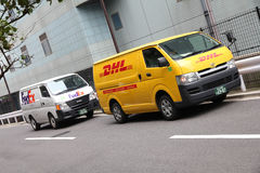 Fedex gegen DHL Stockfoto