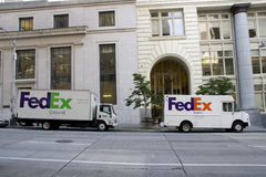 FedEx Ground and Express truck Royalty Free Stock Photography
