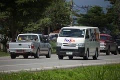 Fedex logistic van. CHIANG MAI, THAILAND -SEPTEMBER 28 2017:  Fedex logistic van.   On road no.1001, 8 km from Chiangmai city Royalty Free Stock Photos