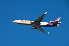 FedEx MD-11. MEMPHIS – DECEMBER 12:  FedEx MD-11 takes off carrying Christmas and business packages.  Green Monday sets the all time record with 17 million Stock Photo