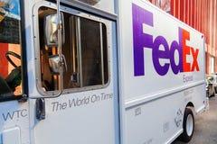 Fedex samochód dostawczy w Manhattan, NYC Zdjęcie Royalty Free