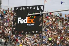 Arrêt de mine de Denny Hamlin de tasse de sprint de NASCAR Photographie stock