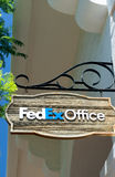 FedEx Store and Sign Royalty Free Stock Image