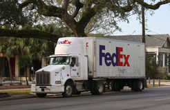 FedEx truck Royalty Free Stock Images