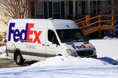 Fedex Truck Delivery Stock Image