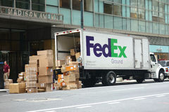 FedEx Truck Stock Photo