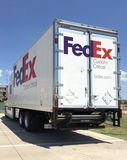 Fedex truck royalty free stock photography