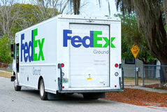 FedEx truck van delivery Royalty Free Stock Images