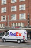FedEx Van At Amsterdam East The Netherlands 2018 On Bicycles stock image