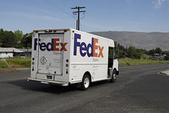 Fedex van Royalty Free Stock Images