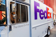 FedEx van in Manhattan, NYC Royalty Free Stock Photo