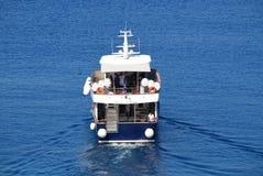 Fedon ferry, Halki Stock Photo