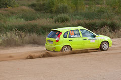 Fedor Kratov drives a green Lada Stock Images