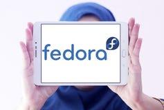 Fedora-besturingssysteemembleem stock afbeeldingen