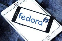 Fedora-besturingssysteemembleem stock afbeelding