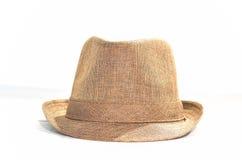 Fedora-bruine hoed stock foto