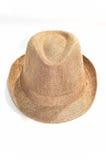 Fedora-bruine hoed royalty-vrije stock foto