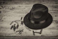 Fedora et balles Photos libres de droits
