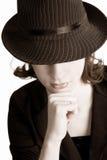Fedora Girl Stock Image