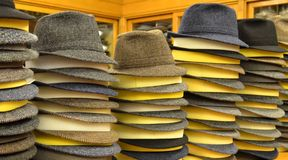 Fedora-Hüte Stockfoto