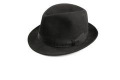 Fedora hat. A black fedora hat isolated on white Stock Photo