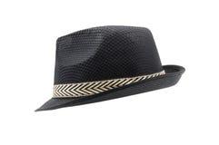 Fedora hat isolated on white background. Black fedora hat isolated on white background Royalty Free Stock Images