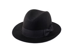 Fedora hat ladies. Classic fedora felt hat ladies royalty free stock photography