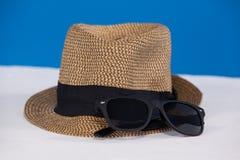 Fedora hat and sunglasses Royalty Free Stock Photo
