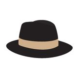Fedora hat. Vector,  isolated, hat, cap stock illustration