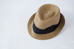 Fedora hat on white background Royalty Free Stock Photo