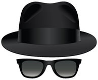 Fedora sunglasses Royalty Free Stock Photo
