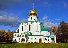 Fedorovskiy cathedral in Pushkin in autumn, Stock Photos