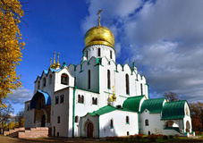 Fedorovskiy cathedral in Pushkin in autumn, Stock Images