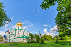 Fedorovskiy cathedral in Pushkin in summer day Royalty Free Stock Photography