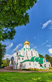 Fedorovskiy cathedral in Pushkin in summer day Stock Photos