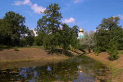 Fedorovsky Cathederal under blue sky Stock Photos