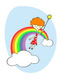Fee über dem Regenbogen Lizenzfreie Stockfotografie