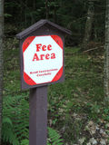 Fee Area Sign Toll Royalty Free Stock Photos