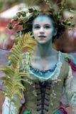 Fee bij Renaissance Faire Stock Afbeeldingen