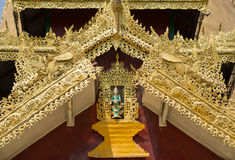 Fee bij Shwemawdaw-pagode, Myanmar Royalty-vrije Stock Foto's