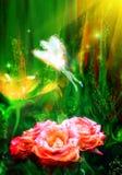 Fee der Blumen Lizenzfreies Stockbild