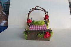 Fee Forest Bed - Miniaturbett - Fantasie-Bett Stockbilder