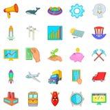Fee icons set, cartoon style Stock Image